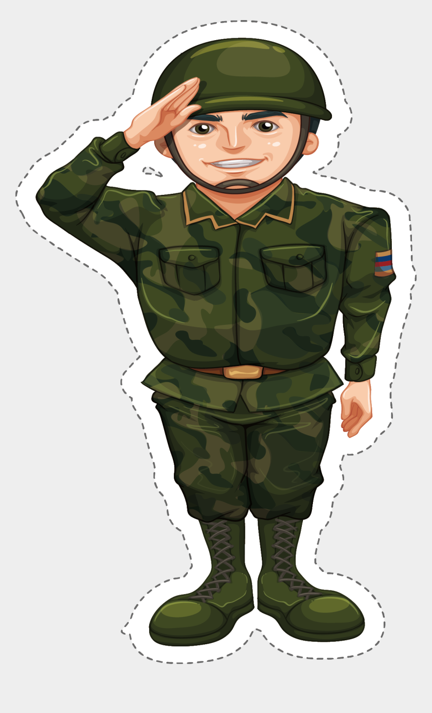 Military Clipart Army Camouflage - Soldier Doing The Salute