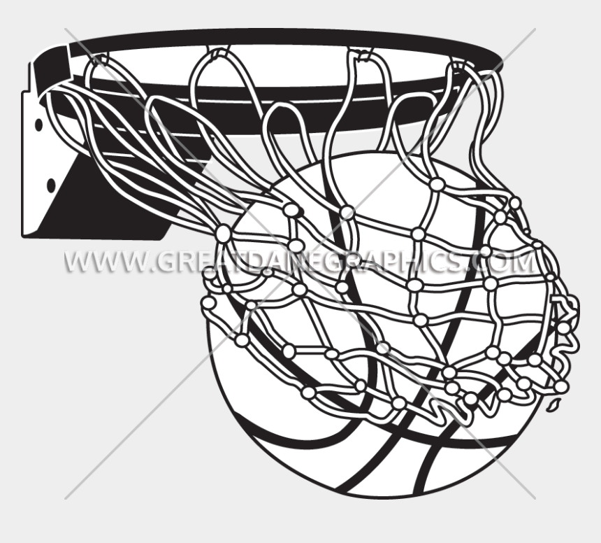 basketball hoop clipart black and white, Cartoons - White Basketball Png - Basketball Going In Hoop Drawing