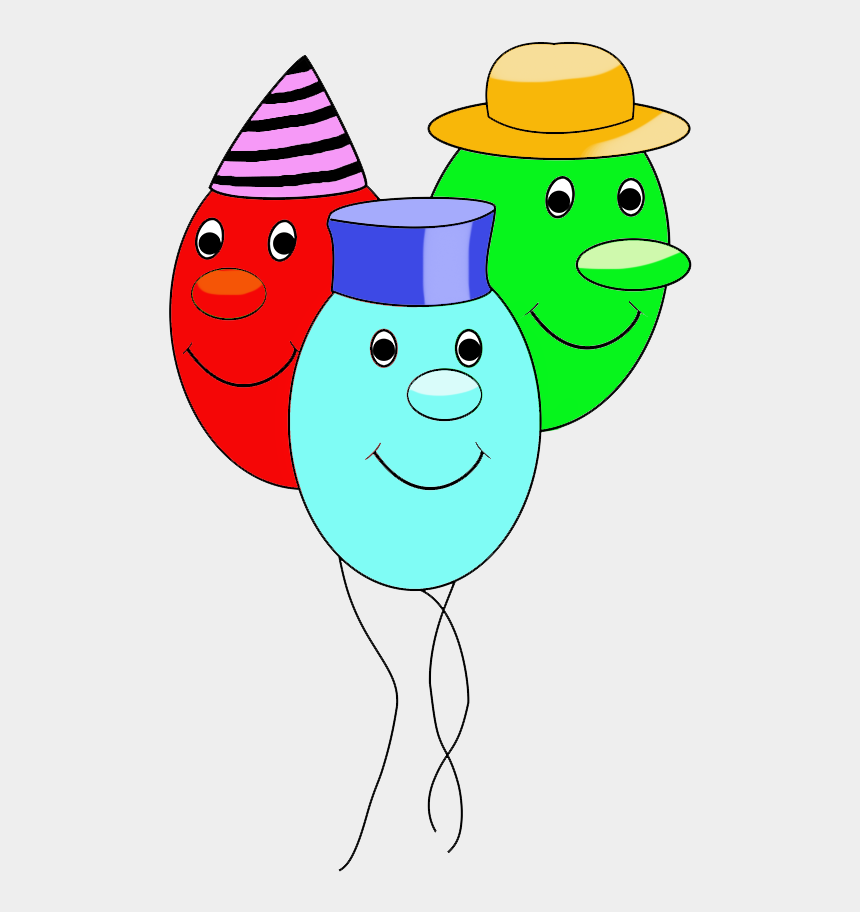 birthday balloons clip art, Cartoons - Funny Balloons With Faces For Birthday - Cartoon