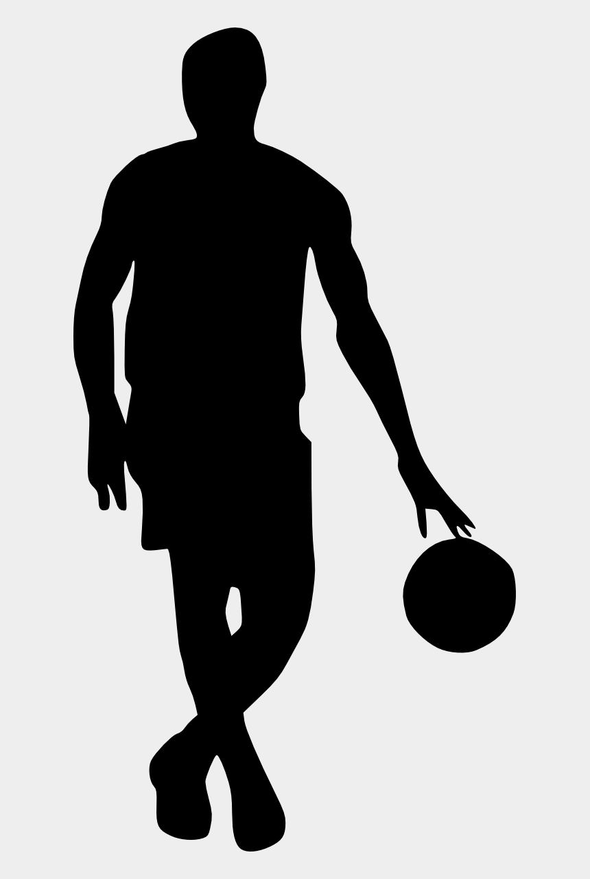 basketball hoop clipart black and white, Cartoons - Silhouette Basketball At Getdrawings - Transparent Basketball Player Clipart