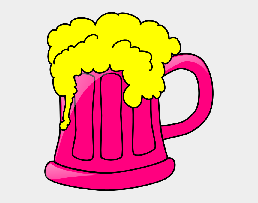 beer mug clipart, Cartoons - Pink Beer Mug Clip Art - Beer Mug