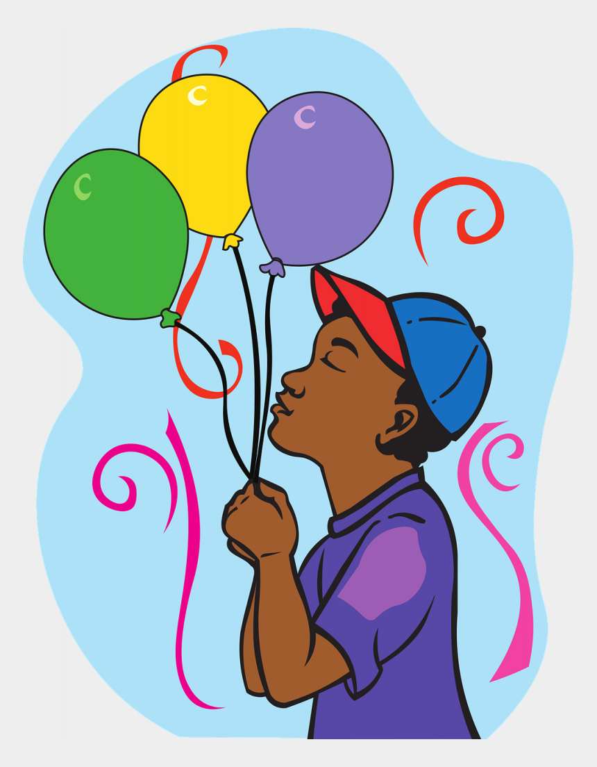 birthday balloons clip art, Cartoons - Happy Birthday Balloons Boy Greeting Card Party - Balloon