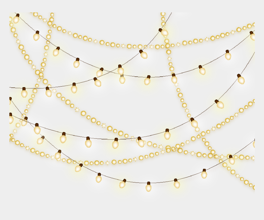 christmas light clipart, Cartoons - Pattern White Christmas Lights Creative Png File Hd - Chain