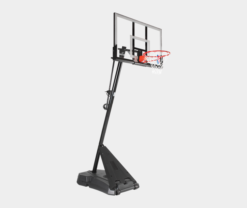 basketball hoop clipart black and white, Cartoons - Picture Of A Basketball Hoop - Spalding Hercules Acrylic Portable Basketball System