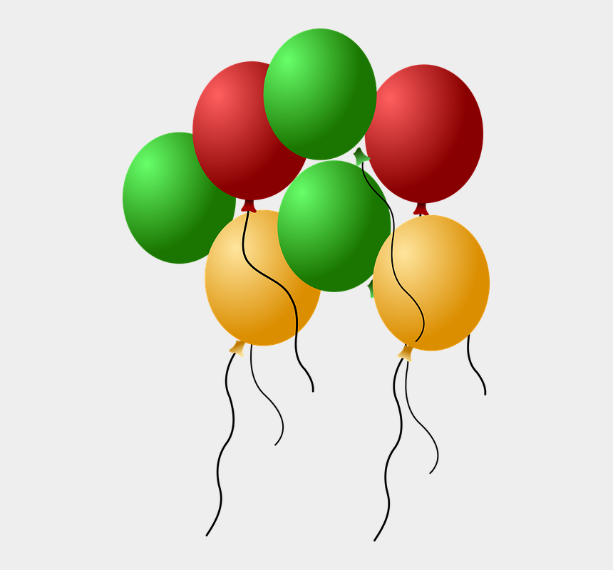 birthday balloons clip art, Cartoons - Balloons Helium Flying Isolated Celebration - Happy 13th Birthday To Our Granddaughter