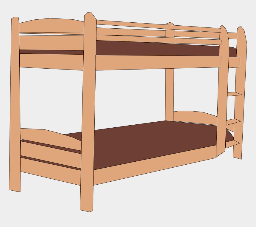 bed clip art, Cartoons - Bunk Bed Clipart
