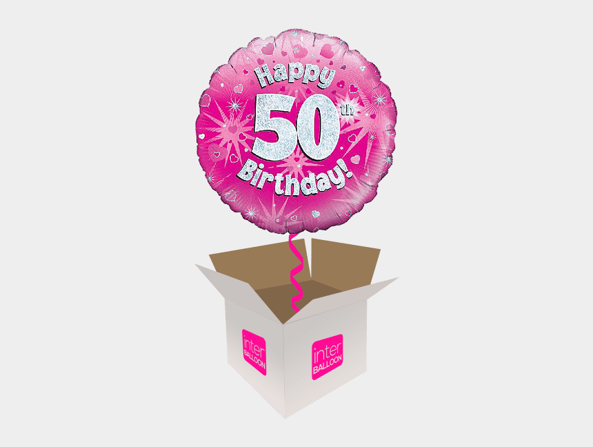 birthday balloons clip art, Cartoons - 50 Blue Birthday Starburst Bubble Balloon 50th Birthday - 11th Birthday Png