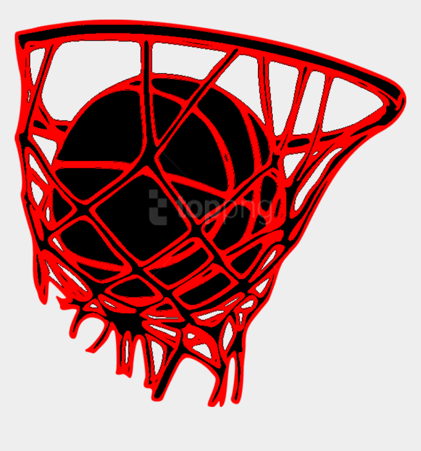 basketball hoop clipart black and white, Cartoons - Hoop Clipart Varsity Basketball - Girls Basketball Red Clipart