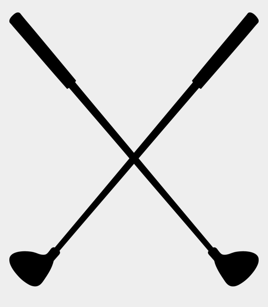 baseball bat clip art, Cartoons - Crossed Baseball Bat Png - Crossed Golf Club Clipart