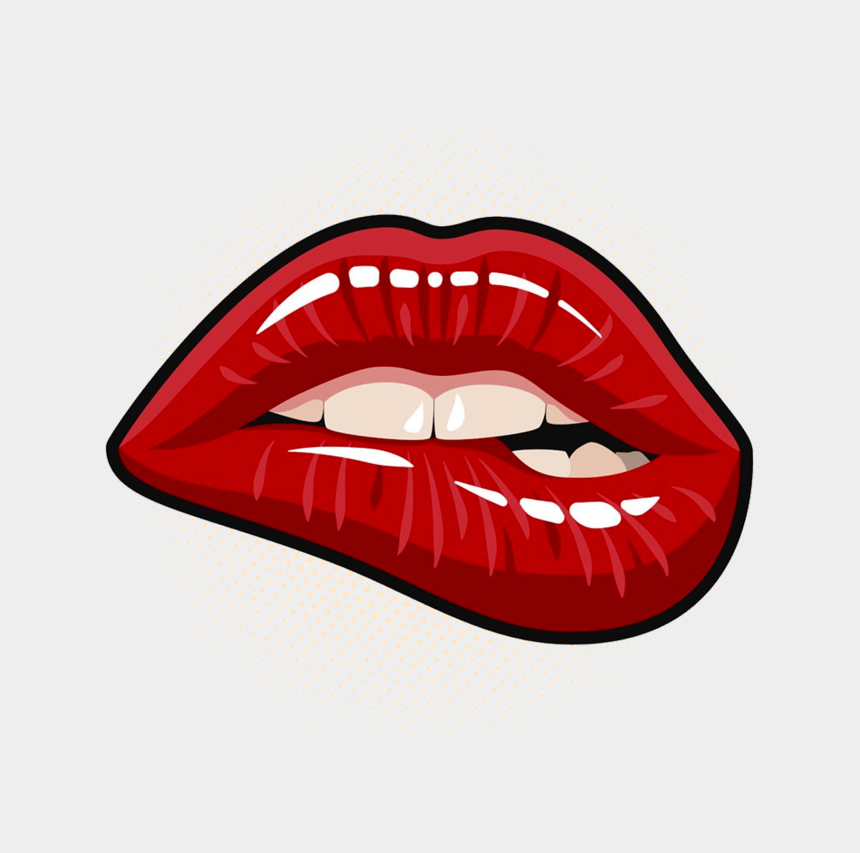 Lips Clipart Png Pop Art Biting Lip Cliparts Cartoons Jing Fm