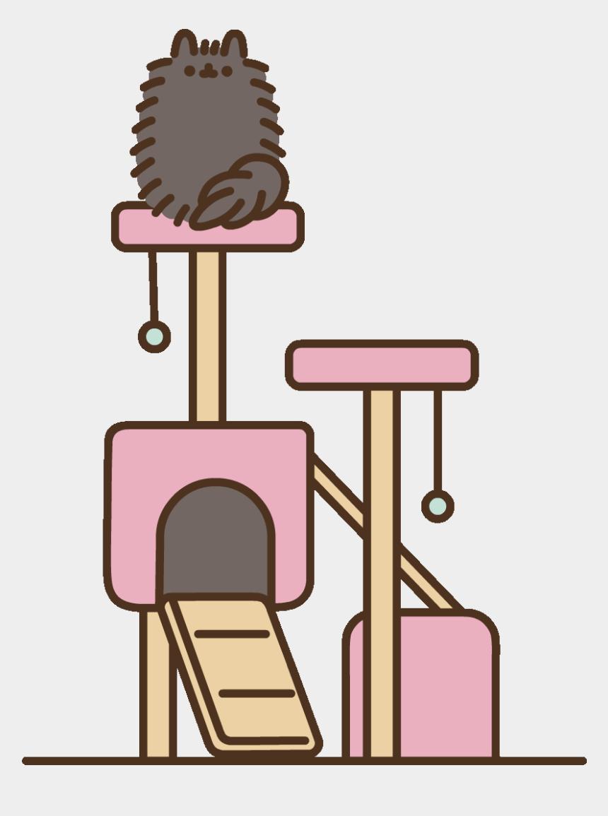 black cat clip art, Cartoons - Black Cat Sticker By Pusheen Clipart , Png Download - Pip The Cat Pusheen