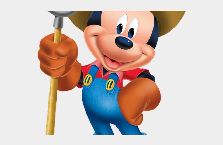 farm clip art, Cartoons - Farm Clipart Mickey Mouse - Mickey Mouse As A Farmer