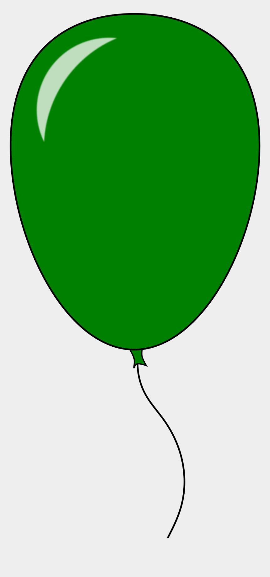 clip art balloons, Cartoons - Balloons Clipart String - Green Balloon Clip Art