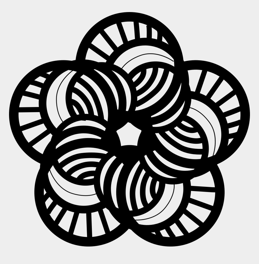 flowers clipart black and white, Cartoons - Flower Black And White Cute Flower Black And White - Illustration