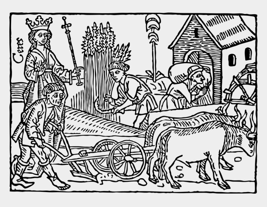 farm clip art, Cartoons - Medieval Farming