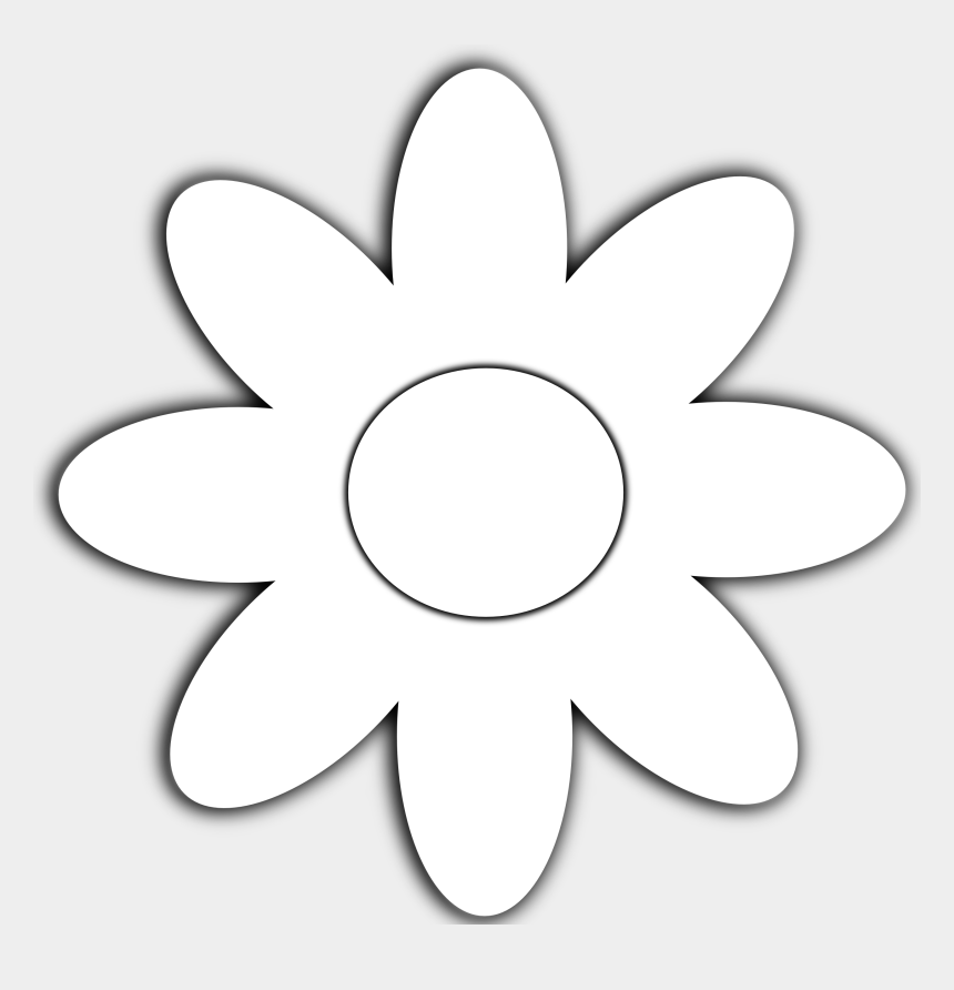flowers clipart black and white, Cartoons - White Flower Clipart Image - Daisies Vector Black And White