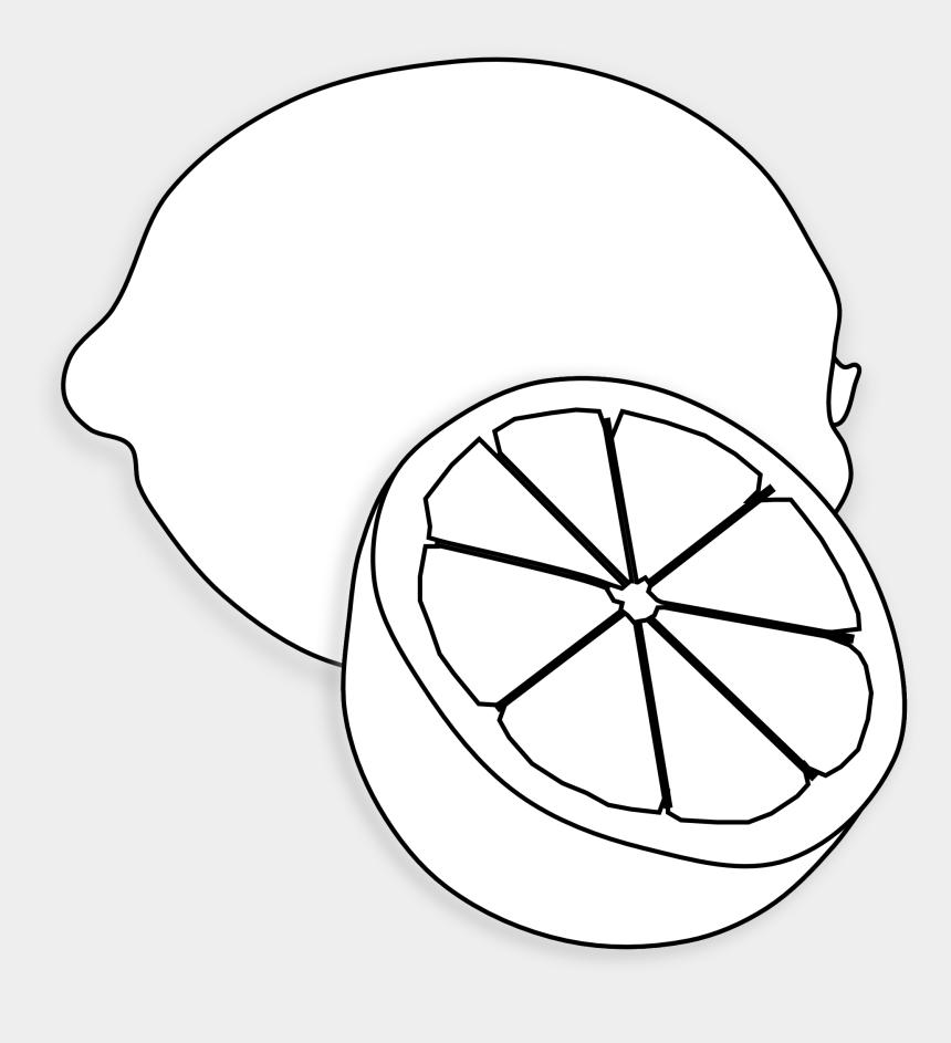 lemon clip art, Cartoons - Lemon Clipart Black And White