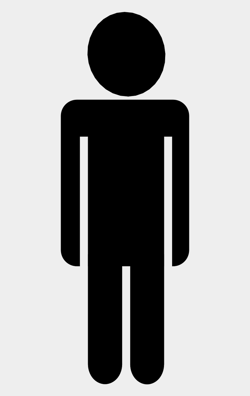 person clip art, Cartoons - People Silhouette Clipart - Black And White Man Clipart