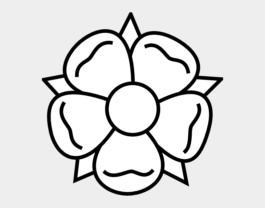 flowers clipart black and white, Cartoons - Flower Tattoo Clip Art - Easy Spring Flower Drawing