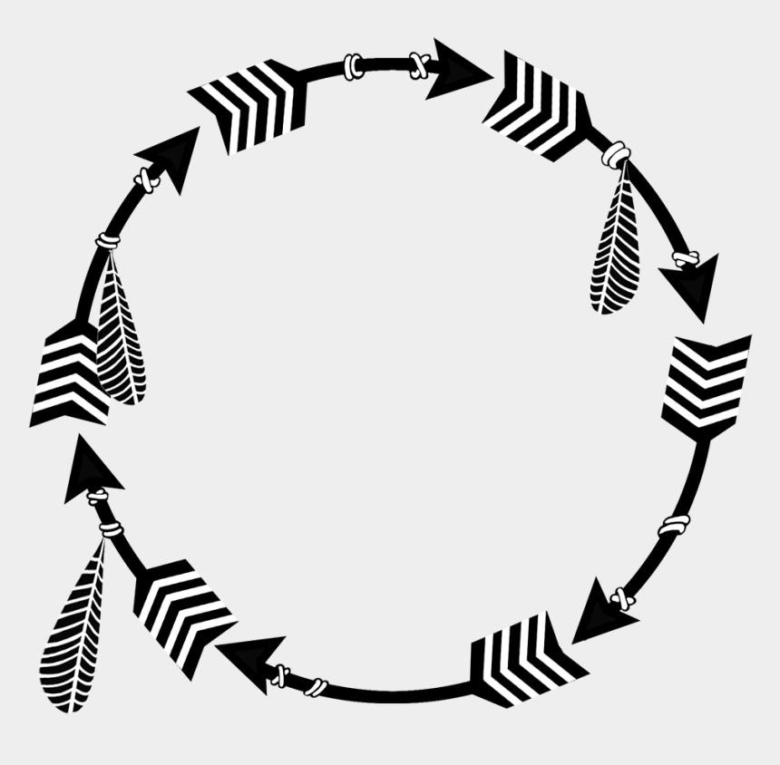 circle clip art, Cartoons - Native Circle Arrows - Illustration