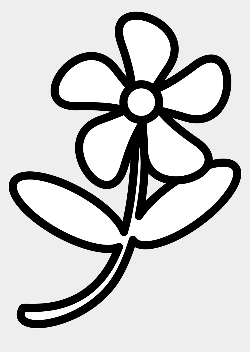 flowers clipart black and white, Cartoons - Flower 2 Svg Royalty Free Stock - Clip Art Of Flower