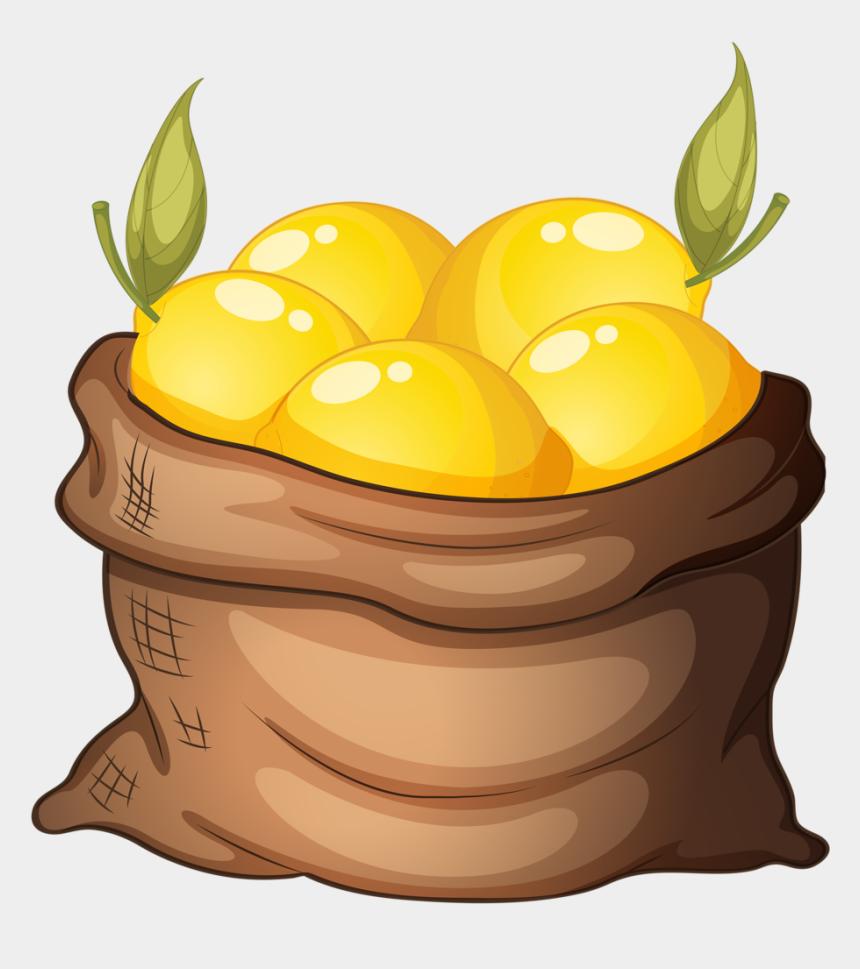 lemon clip art, Cartoons - Lemon Clipart - Basket Of Lemons Clip Art