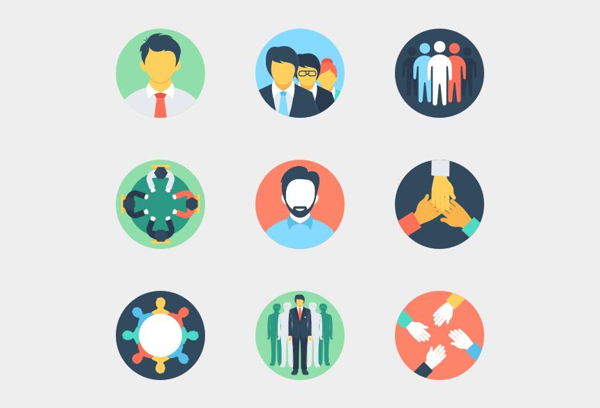 circle clip art, Cartoons - Teamwork And Organization - Graphic Design Flat Icon