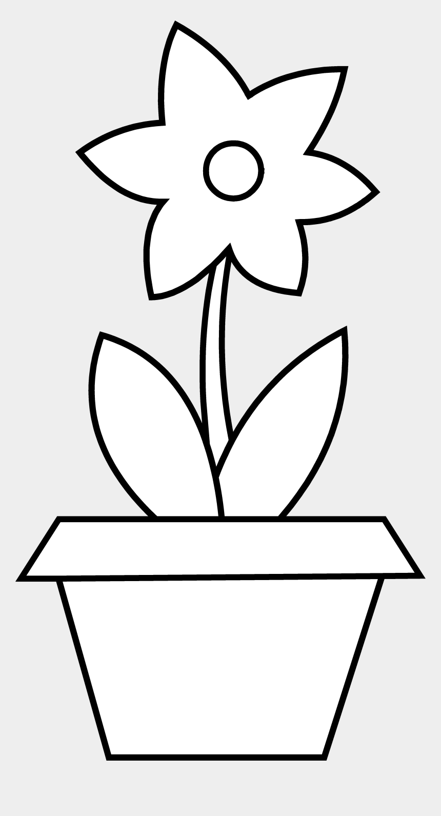 flowers clipart black and white, Cartoons - Flowers For Black And White Flower Pot Clipart - Flower Pot Outlines