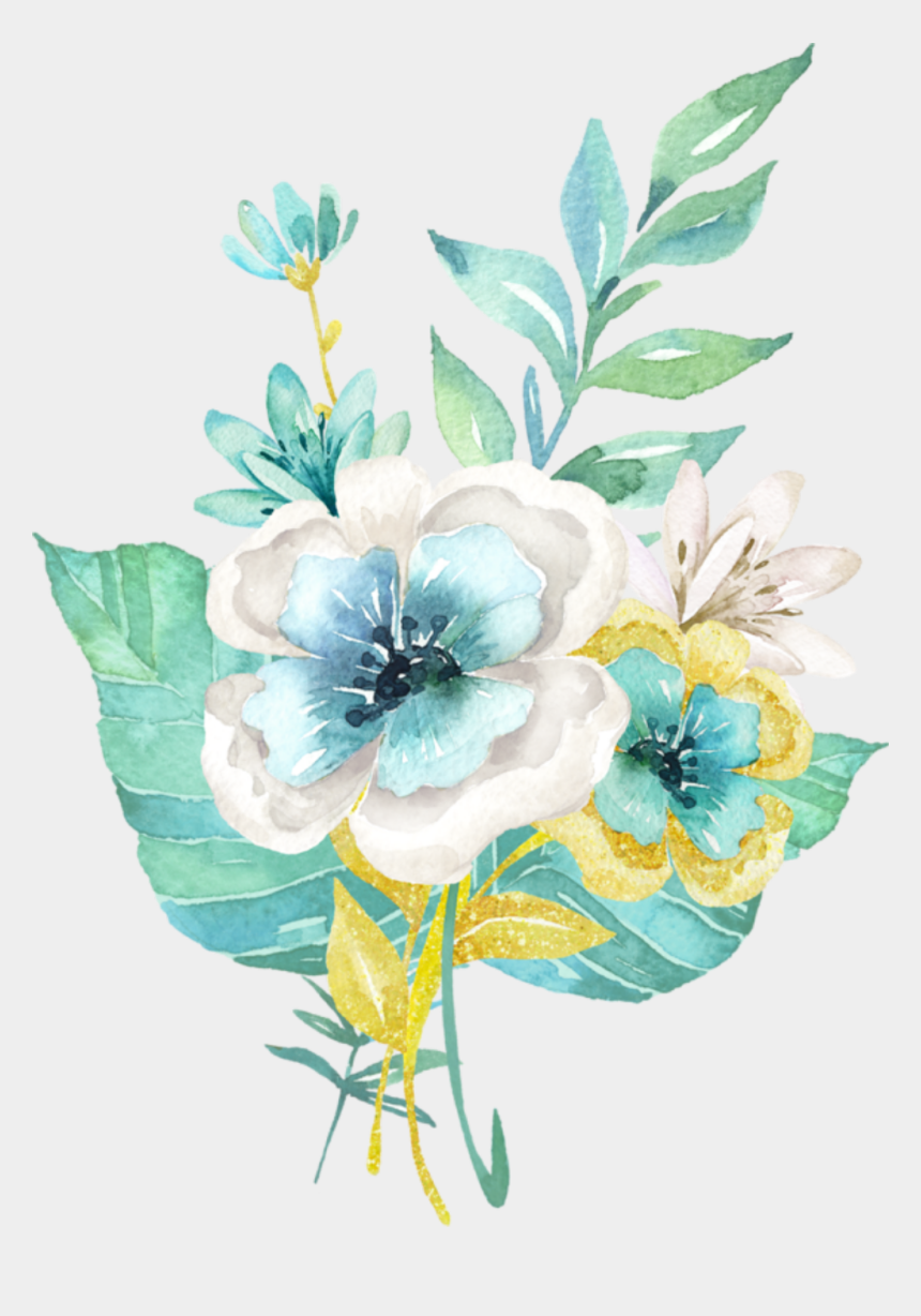 flowers clipart black and white, Cartoons - Kwiaty Transparent - Vector Watercolor Flower Png