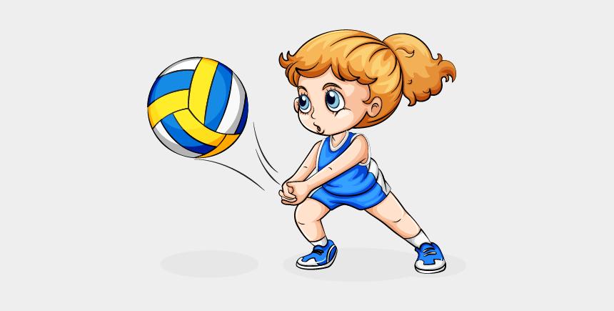 volleyball clip art, Cartoons - Clipart Volleyball Female Volleyball Player - Play Volleyball Clipart