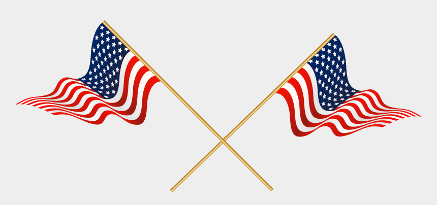 us flag clip art, Cartoons - Flag Clipart Crossed Us - Crossed Flags Clip Art