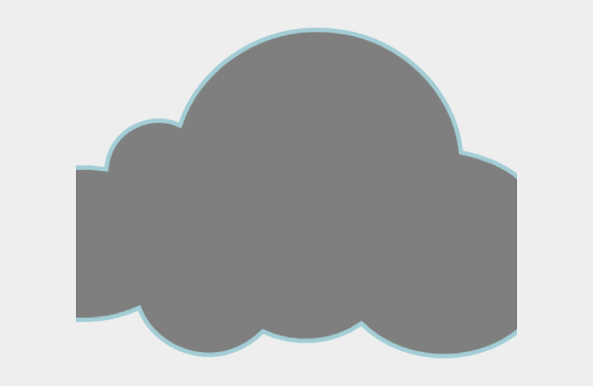cloud clip art, Cartoons - Cloud Clipart Dark Grey - Pollution Cloud Clip Art