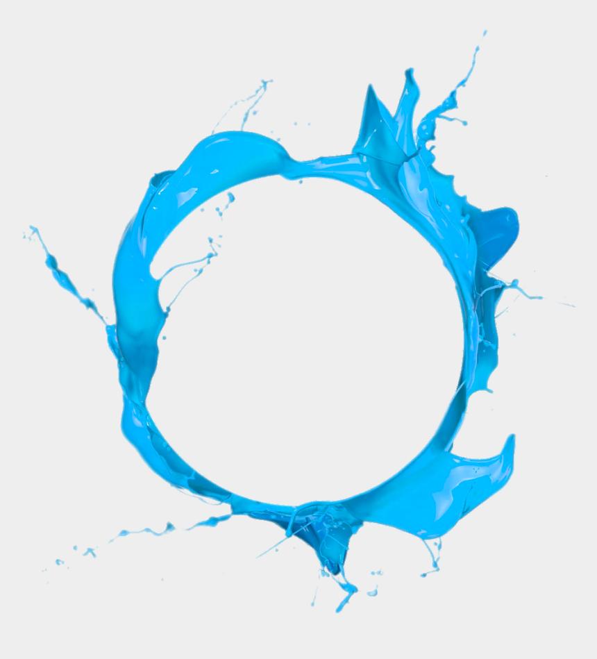 circle clip art, Cartoons - Jpg Royalty Free Circle Paint Blue Clip Art - Blue Paint Splash Png