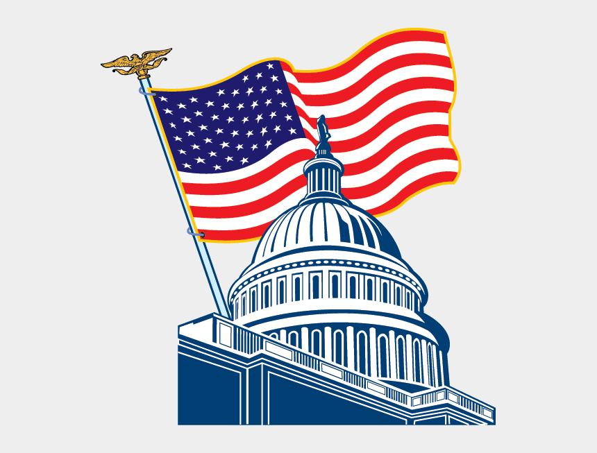 us flag clip art, Cartoons - Us Capitol Clip Art