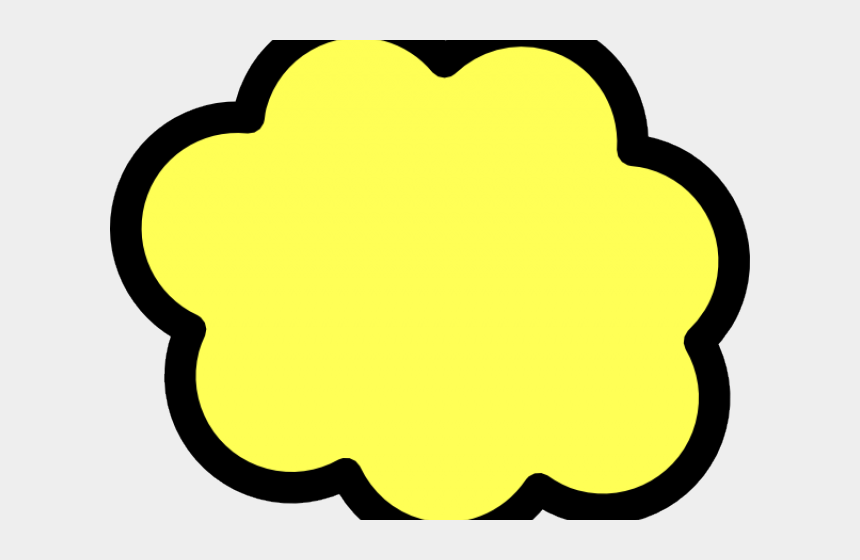 cloud clip art, Cartoons - Red Cloud Clipart Yellow - Visio Cloud Shape