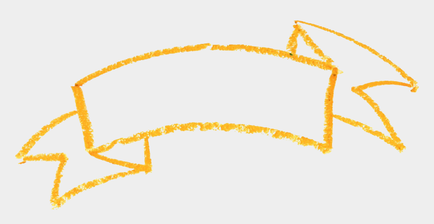 crayons clipart, Cartoons - Clipart Banner Crayon - Transparent Yellow Banner Png