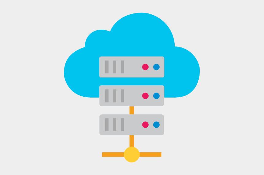 cloud clip art, Cartoons - Cloud Server Clipart Clipart Transparent Background - Hosting Logo Png Vector