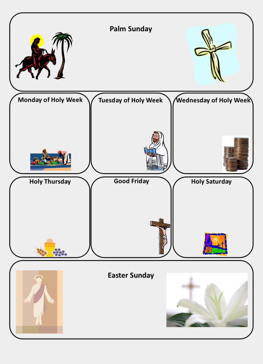 palm sunday clip art, Cartoons - Holy Week Clipart Crown Thorns - Holy Week Timeline Worksheet Pdf