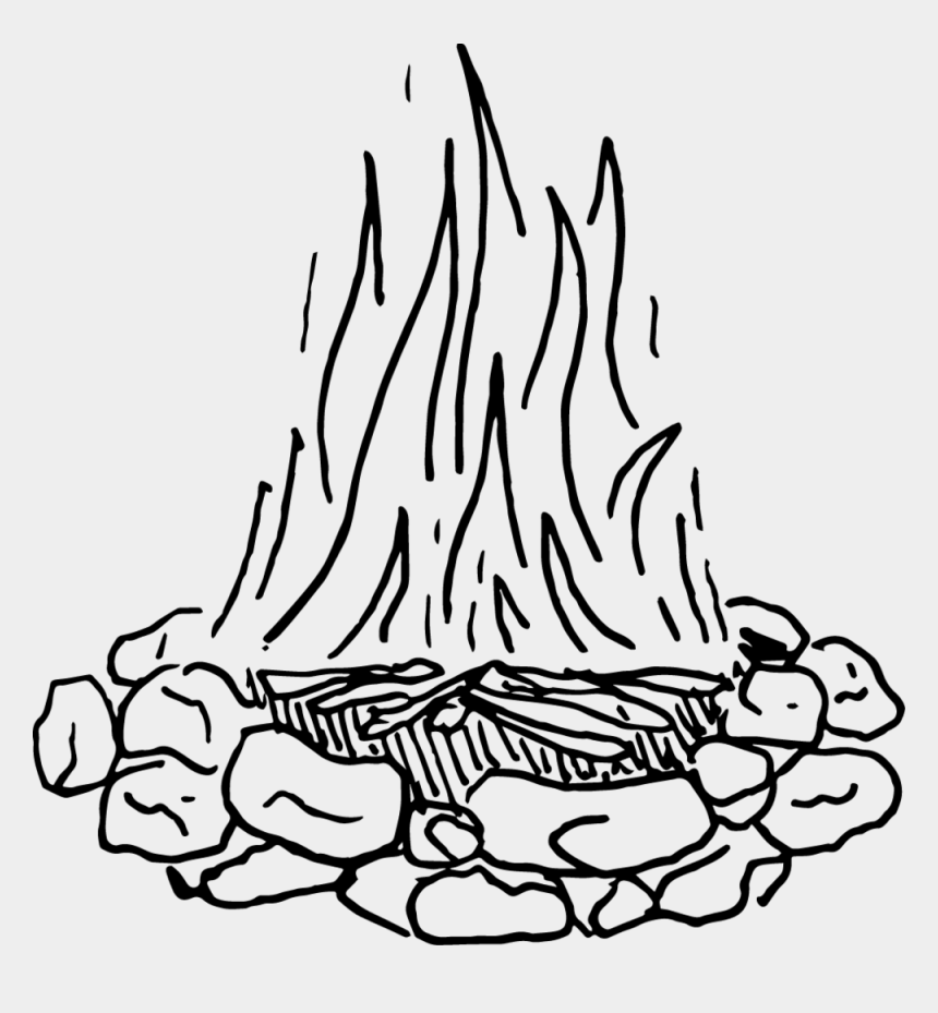 flame clip art, Cartoons - Match Drawing Flame - Black And White Making Fire