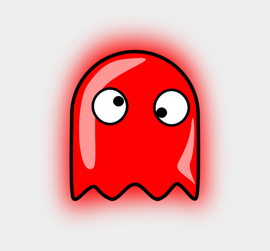pac man clipart, Cartoons - Ghost Pacman Pac-man Funny - Pinky Pac Man Ghost
