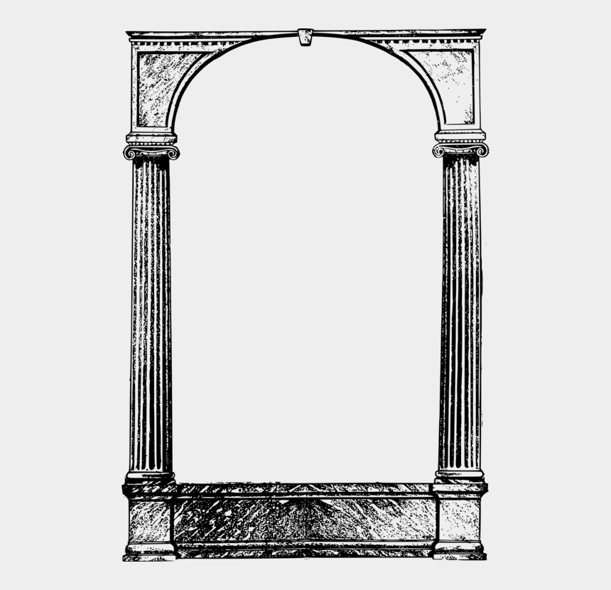 ancient rome clipart, Cartoons - Column Picture Frames Ancient Roman Architecture Ornament - Cool Frames