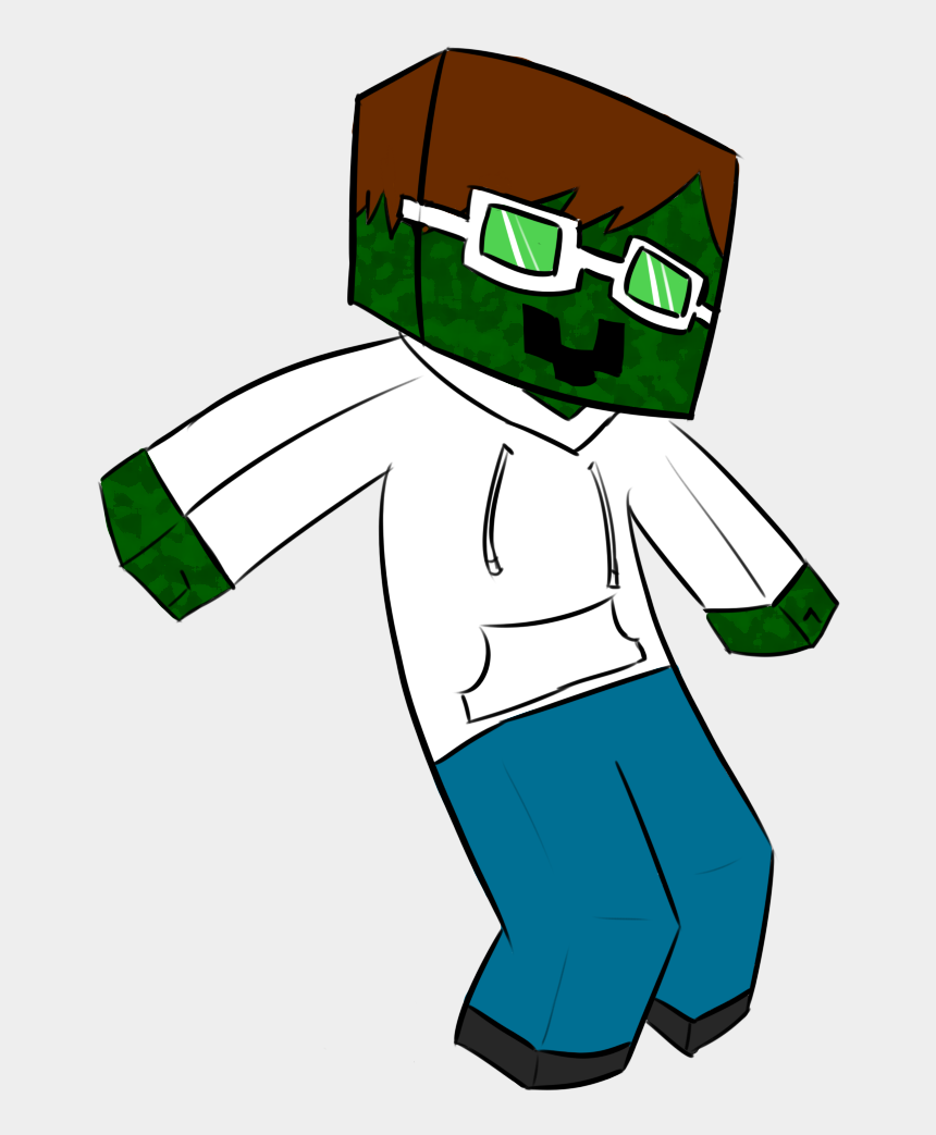 cute zombie clipart, Cartoons - Cool Zombie Mascot - Png Cartoon Minecraft