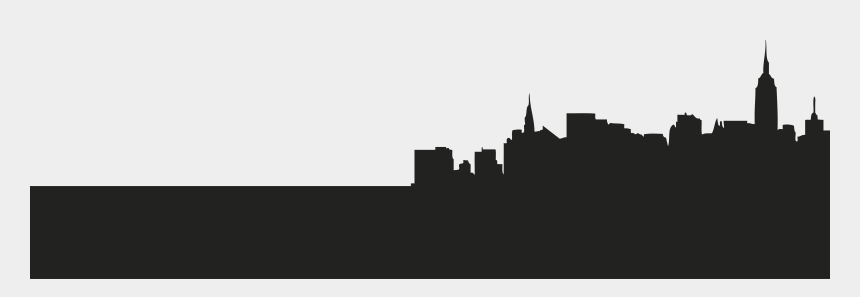 horizon clipart, Cartoons - New York City Skyline Silhouette Clipart - New York City Shadow Png
