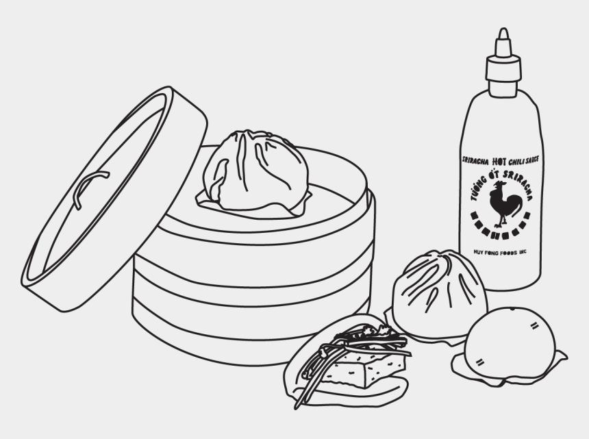 bun clipart, Cartoons - Dumplings Drawing Pork Bun - Char Siew Pau Drawing