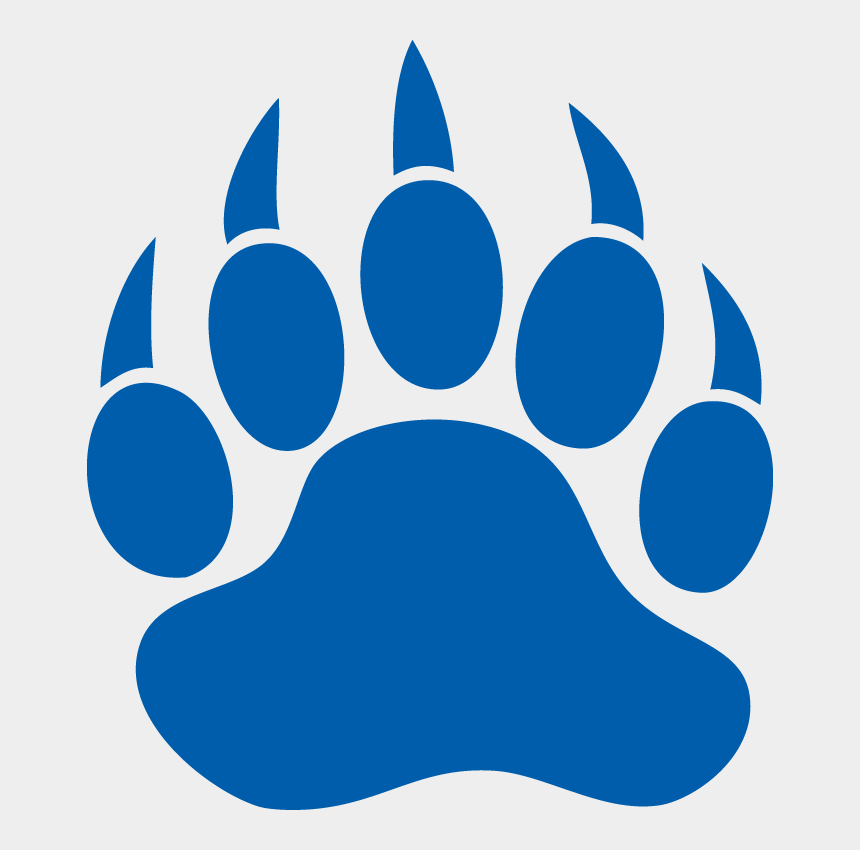 claws clipart, Cartoons - Nittany Lion Clipart - Blue Bear Paw Print