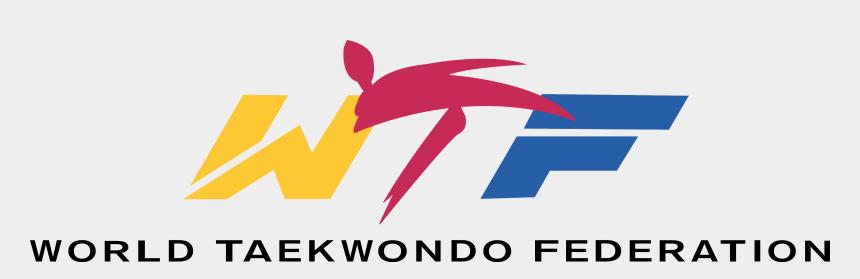 tkd clipart, Cartoons - World Taekwondo Federation Logo [wtf - Wtf Taekwondo Logo Vector