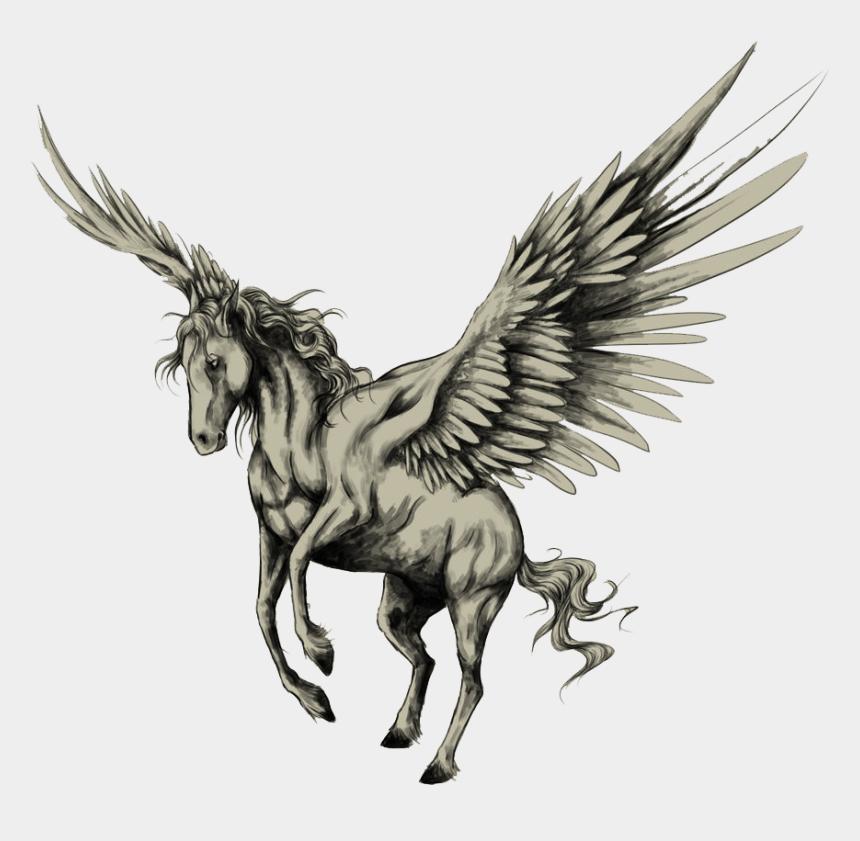 pegasus clipart, Cartoons - Tattoo Horse Pegasus Drawing Sketch Png Free Photo - Winged Horse Tattoo Designs