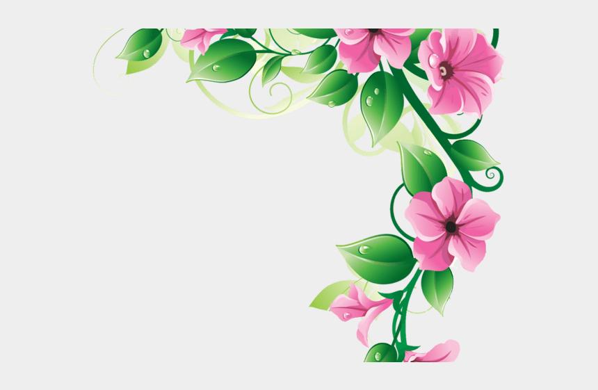 chrysanthemum clipart, Cartoons - Flower Corner Border Png
