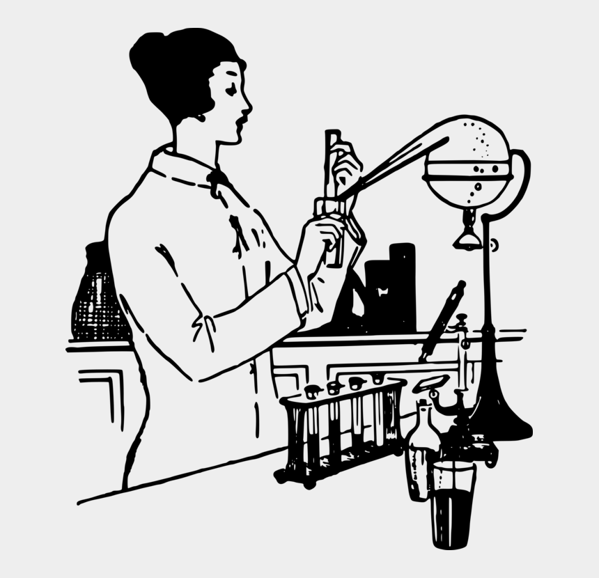 experiment clipart, Cartoons - Laboratory Flasks Scientist Experiment Science - Scientist Doing Experiments Drawing