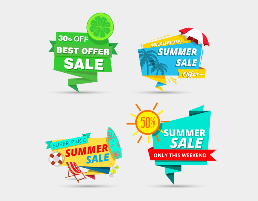 price tags clipart, Cartoons - Summer Sale Tags Design - Summer Sale Offer Png